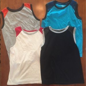 EUC lot of 4 muscle tees sz 10/12-nice condition!